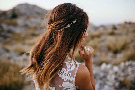 Gold Bridal headpiece - Wedding Hair Vine