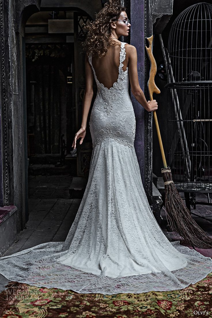 Deep Low Back Wedding Dress : Images about everning gown on fashion