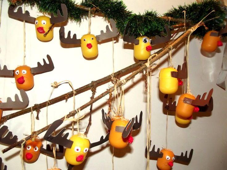 Mama Balbinka: DIY. Kalendarz adwentowy dla dzieci z Kinder jajek.
