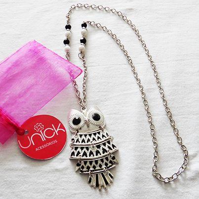 Colar Mocho Black and White, Necklace - unickacessorios@gmail.com