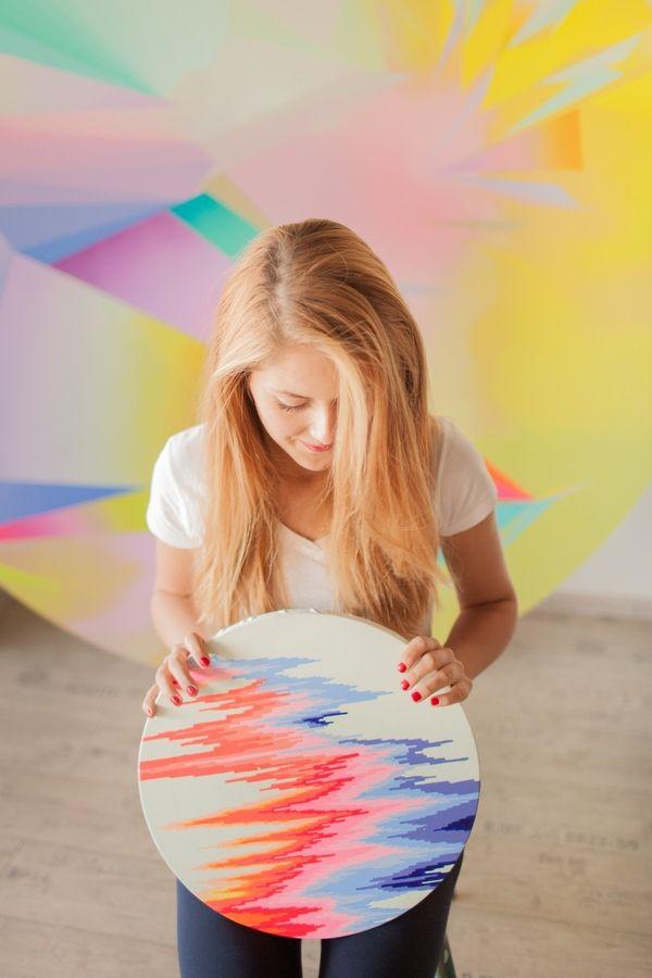 Talented painter Dominika Zakova