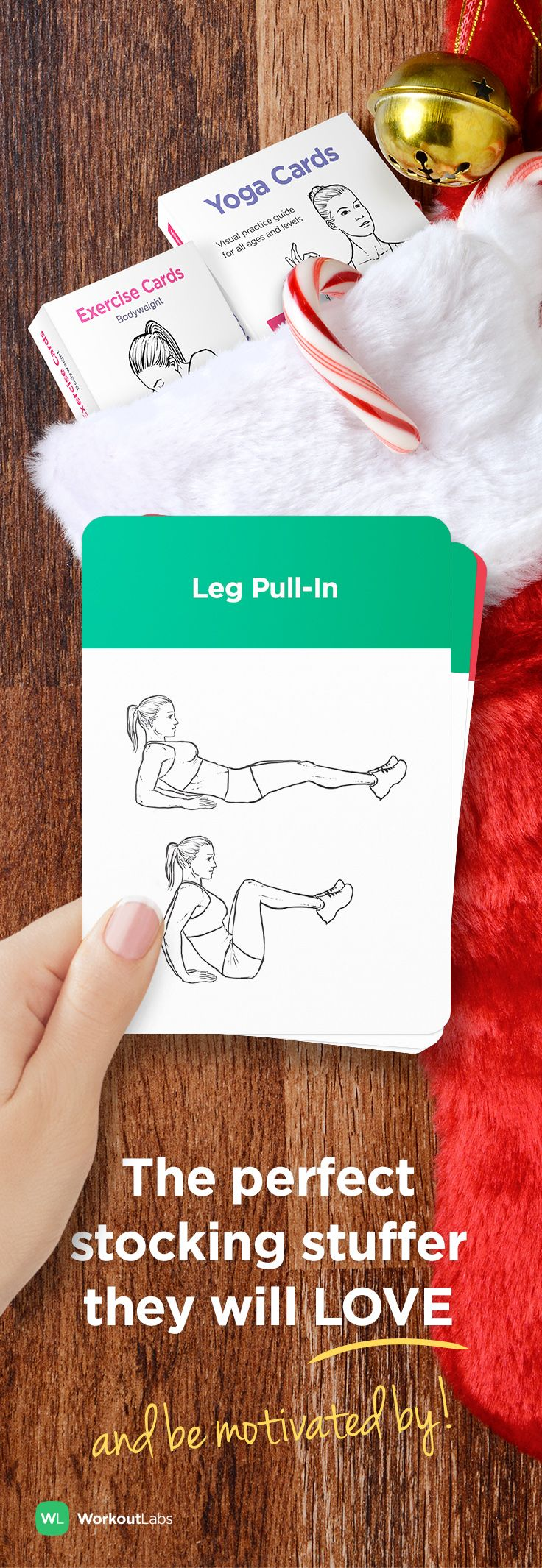 Motivate your friends and family for a healthy 2016 with the perfect workout stocking stuffer for anyone on your list – Exercise Cards from http://WLShop.co