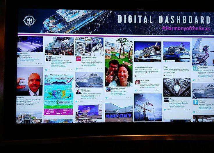 I'm on digital dashboard! #harmonyoftheseas  #cruise #cruiserevolution  #travel