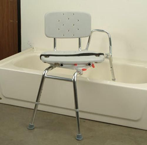 Tub transfer bench with swivel seat ideas