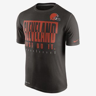 Nike Legend Just Do It (NFL Browns) Men's T-Shirt - Shop for women's T-shirt - Seal Brown/Carbon Heather T-shirt
