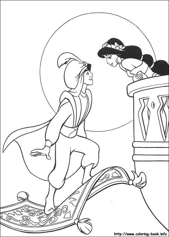 85 Best Coloring Pages Aladdin Images On Pinterest