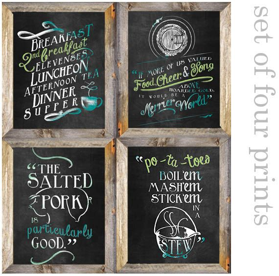 Printable Hobbit Lord of the Rings Second by AveryWorkDesign