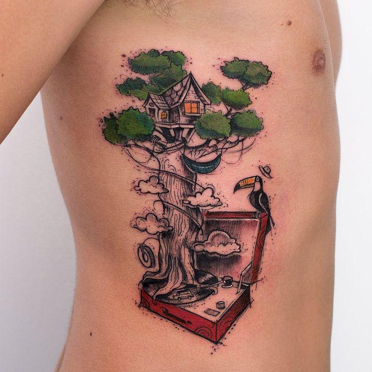 die besten 10 aquarell tattoo baum ideen auf pinterest. Black Bedroom Furniture Sets. Home Design Ideas