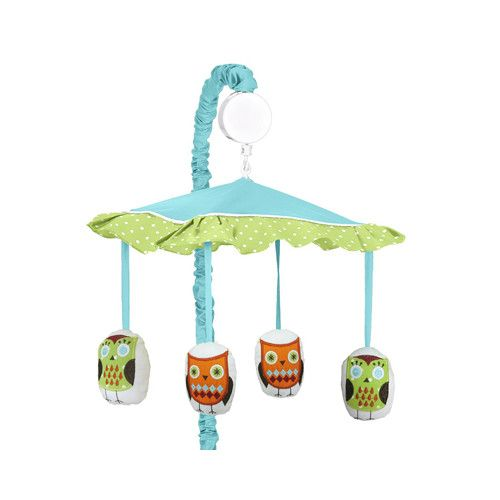 Sweet Jojo Designs Hooty Turquoise and Lime Musical Mobile