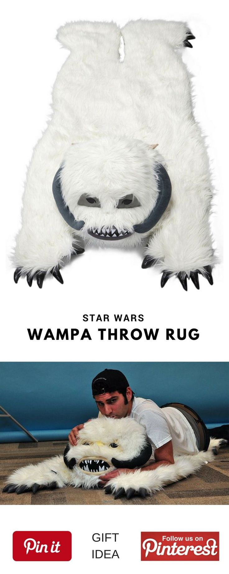 Star Wars Wampa Throw Rug. This could be a great best gift for geek friend,  mother's or father's day, birthday for women or men, girls, boys and little kids, christmas, girlfriend, boyfriend, couples, valentine, bridesmaid, graduation, weeding, engagement and retirement. It's an inexpensive great meaning present and personalized for any funny guys anniversary. #geek #cheap #unique #weird #DIY #unusual #homemade #online #coolideas #shop #her #him #starwars