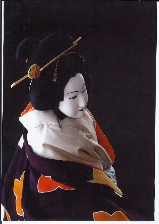 BUNRAKU (文楽), also known as Ningyō jōruri (人形浄瑠璃), is a form of traditional Japanese puppet theatre, founded in Osaka in 1684. Three kinds of performers take part in a bunraku performance: the Ningyōtsukai or Ningyōzukai (puppeteers), the Tayū (chanters) and shamisen musicians. Occasionally other instruments such as taiko drums will be used.............