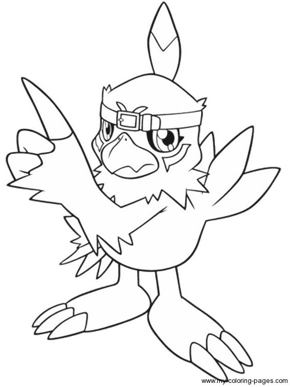 digimon coloring page - Digimon Coloring Pages