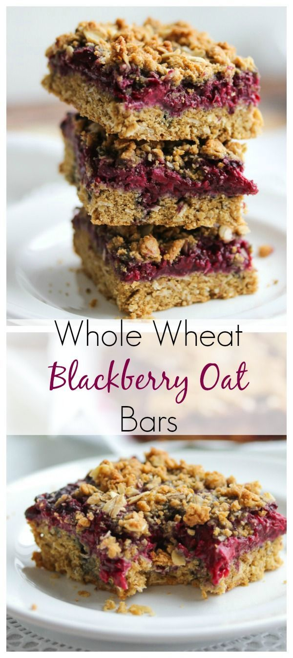 These fiber-rich oat bars are made with whole grain goodness and the most delicious sweet blackberry jam. Perfect for weekday morning breakfasts | dishingouthealth.com