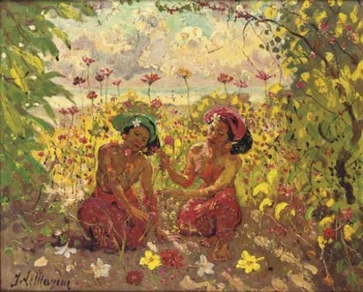 Adrien Jean Le Mayeur de Merprès - Twee vrouwen in de Lotus tuin, Sanur