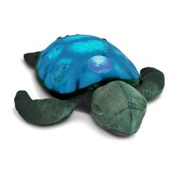 Skildpadde natlampe. Lyser i 30 minutter og slukker derefter selv. Lyset er blødt og kan lyse i grønt, blåt eller begge dele.