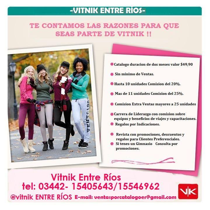 Mirá el nuevo catálogo!! Hay más opciones de abrigos para mujer y hombre, y muchos productos nuevos para aprovechar en este otoño... http://www.vitnik.com/catalogo.php Quieres vender?. Quieres Comprar? Comunicate hoy; 03442- 15405643/ 15546962/ 15457858 Envios a Todo Entre Ríos @Vitnik ENTRE RÍOS
