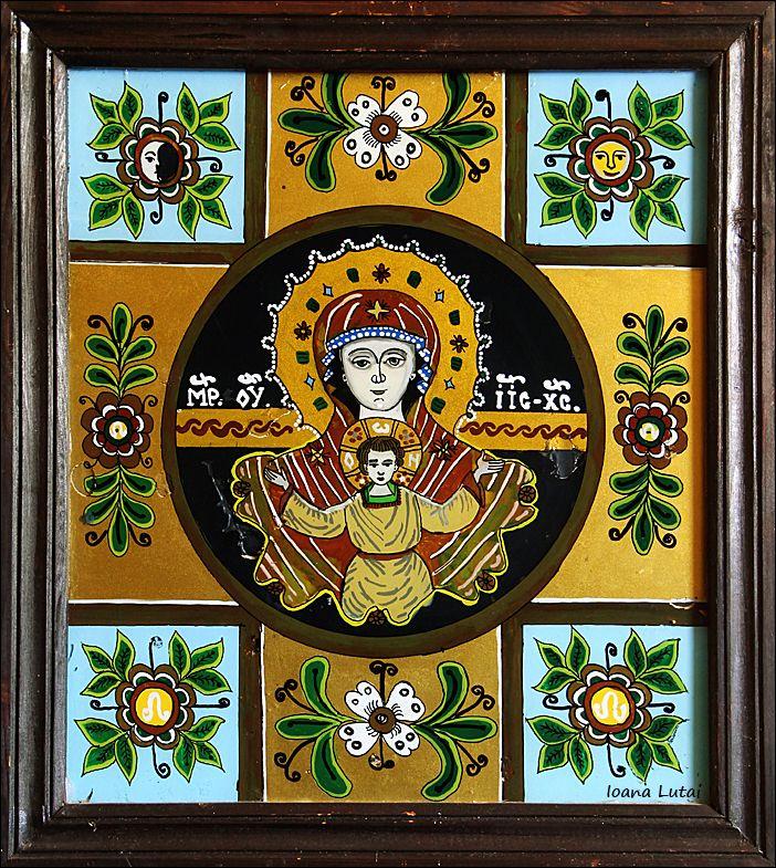 Maica Domnului cu Pruncul - Icoane pe sticla Sapanta - Ioana Lutai - foto Cristina Nichitus Roncea