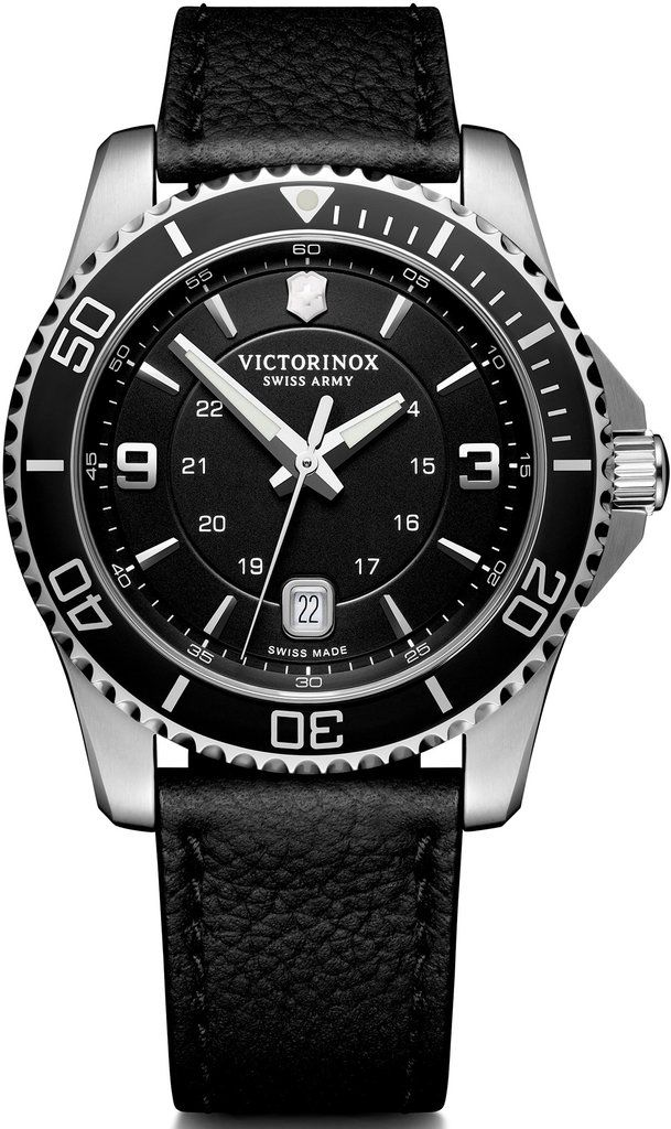 982a81e30c11b Victorinox Swiss Army Watch Maverick #add-content #basel-19  #bezel-unidirectional #bracelet-strap-leather #brand-victorinox-swiss-army  #case-material-steel ...