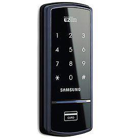 "Samsung EZON Digital Door Lock Deadbolt SHS-3120 (Black) (6.89""H x 2.7""W x 0.85""D)"
