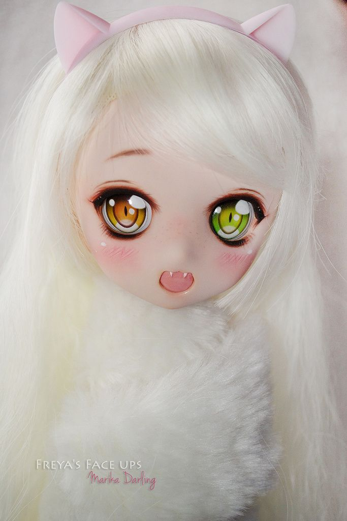 Custom DDH01 dollfie dream neko girl |  www.facebook.com/freyacchis.workshop/   <3 #dollfiedream #neko