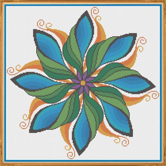 Mandala 2  Harmony  Counted Cross Stitch Pattern X-Stitch