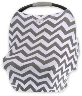 I love that this carseat cover is gender neutral and won't blow off when it's windy out #affiliate