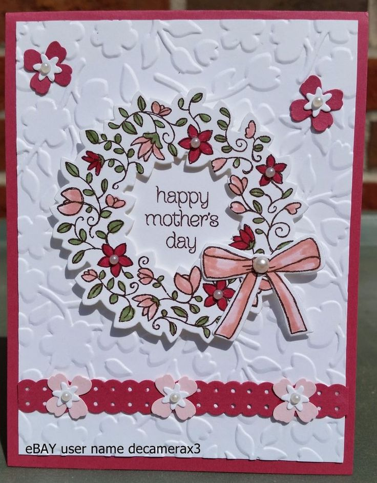 HAPPY MOTHER'S DAY, BIRTHDAY HANDMADE CARD KIT, STAMPIN' UP CIRCLE OF SPRING #HandmadeStampinUp #AnyOccasion