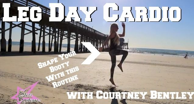 Cardio Workout For After Leg Day (VIDEO)Can You Do Cardio After Legs? Leg Day Cardio Routine by Personal Trainer Courtney Bentley of http://www.starsystemz.com  #workout #fitness