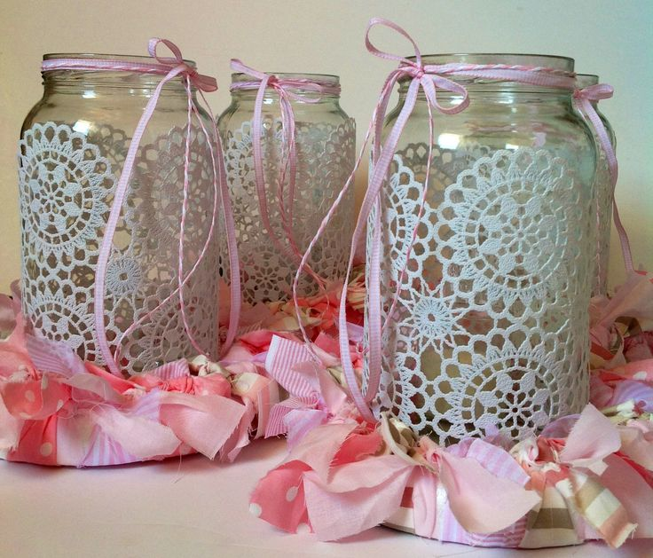 Jars with lace