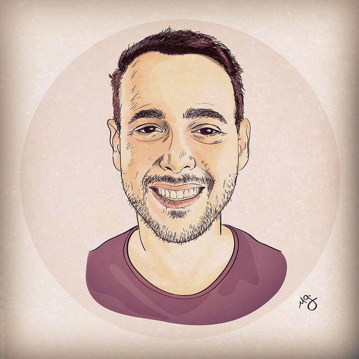 A vector portrait of my favorite @darenfuchs done in Illustrator.