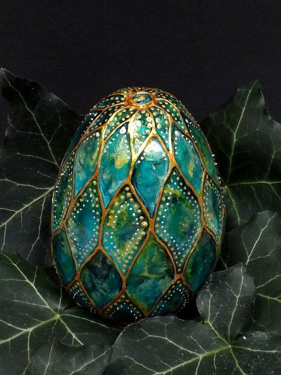 Dragon Egg Water Dragon ceramic egg by TheFairyPotter on Etsy