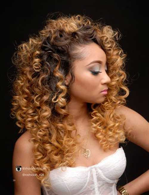 Blonde Curly Hair Weave Styles