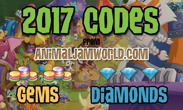 New Animal Jam codes for free gems and diamonds. List of working Animal Jam promo codes & cheats updated every month in 2017. Learn how to use codes.