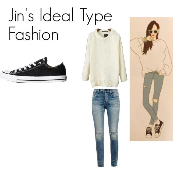 Jins Ideal Type Outfit by kaisper on Polyvore featuring Citizens of Humanity, Converse, bts, jin and kpopinspired