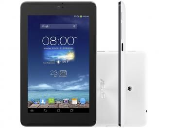"Tablet Asus Fonepad 7 8GB 7"" 3G Wi-Fi Android 4.4 - Intel Atom Câm. 5MP + Frontal 1.2MP Função Celular"