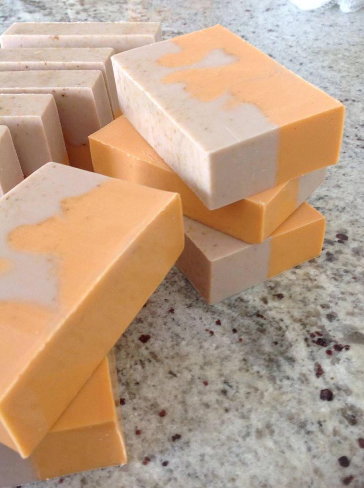 Soap, Homemade, Orange, Ginger, Patchouli, Shea, Almond oil, Orange Ginger Patchouli Soap, Ginger Soap, Patchouli Soap, Orange Peel Soap by JewelsCardShop on Etsy