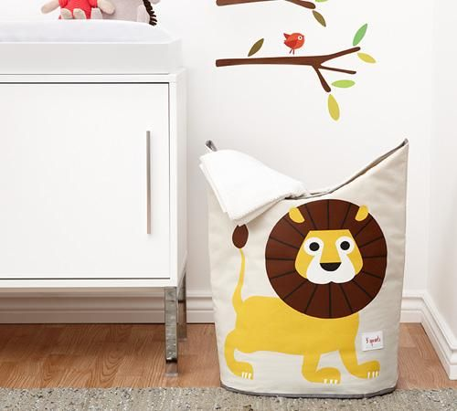 3 Sprouts Laundry Hamper Yellow Lion Laundry Hamper