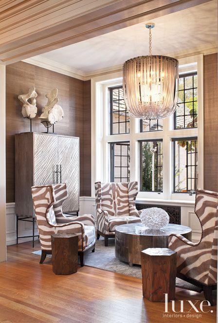 379 best glamorous living rooms images on pinterest for Living room decorating ideas zebra print