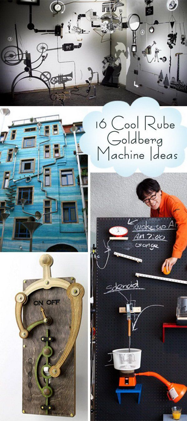 Simple machines project ideas - 16 Cool Rube Goldberg Machine Ideas