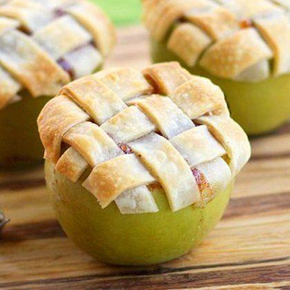 Mini Apple Pie with Lattice Crust | MyRecipes