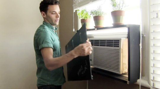 How To Hide An Ugly AC Unit With Removable DIY Shelf For The Home Window Ac Unit Air