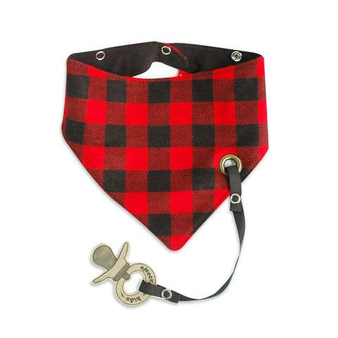 Bandana Snap Bib Lumberjack - mini mioche - organic infant clothing and kids clothes - made in Canada
