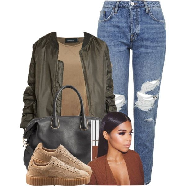 Untitled #526 by princess-miyah on Polyvore featuring MINKPINK, Topshop, H