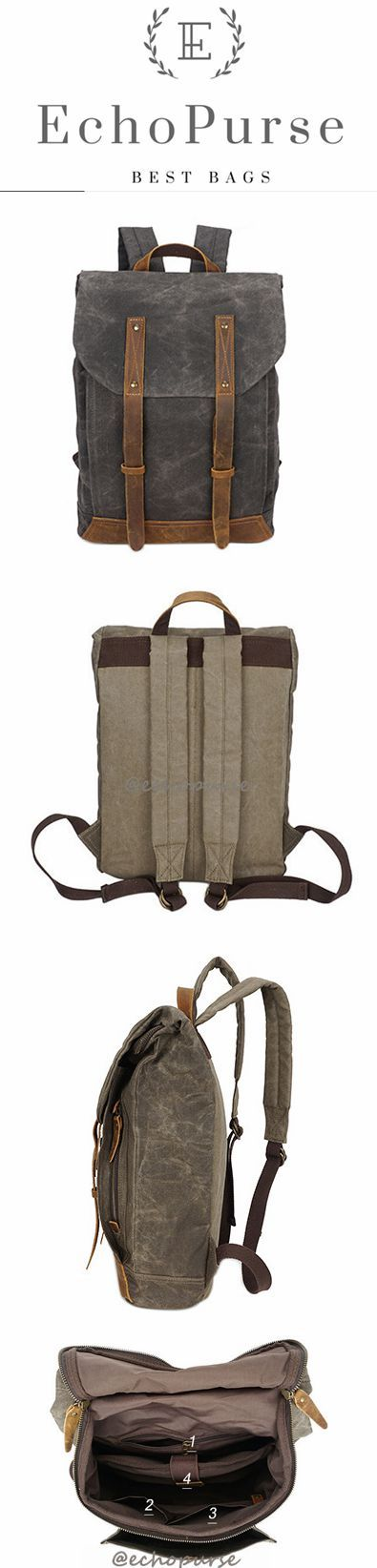 Canvas Backpack, Vintage Waterproof Travel Fashion Bag For Man YD162