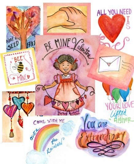 Im a-gonna wrap myself in paper, Im gonna daub myself with glue, Stick some stamps on top of my head;  Im gonna mail myself to you.......  Are you looking for beautiful, unique Valentines Day cards? This pdf has over 10 pages of lovely water colored images that will show those you love how much you adore them! Perfect for gift tags, classroom valentine exchanges and more! Includes small sizes for class exchanges and a few larger sizes to turn into traditional cards.