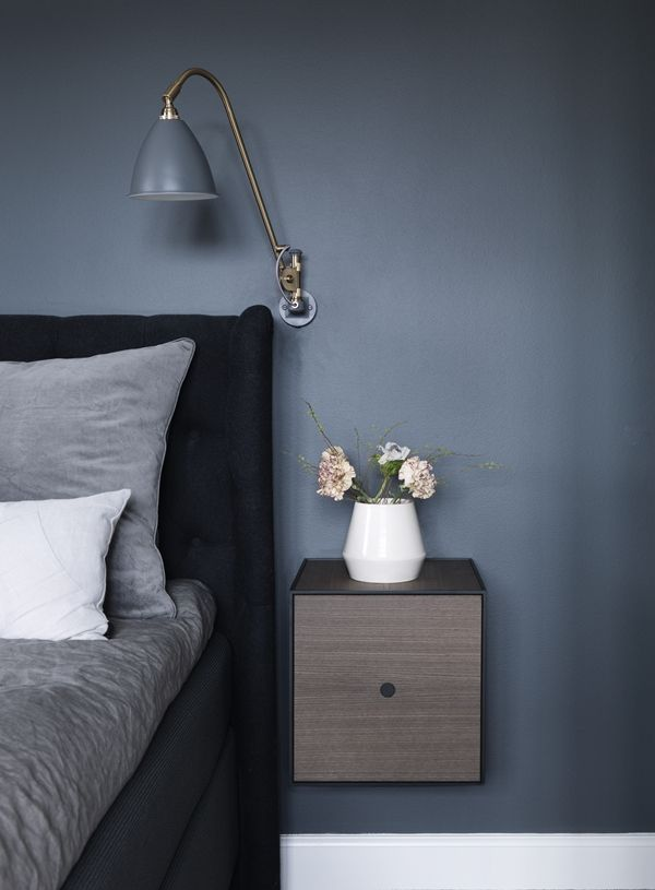 blue bedroom...  GUBI // Bestlite BL6 Wall Lamp by Robert D. Best
