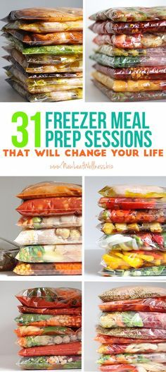 31 Freezer Meal Prep Sessions That Will Change Your Life. Free printable recipes and grocery lists included.