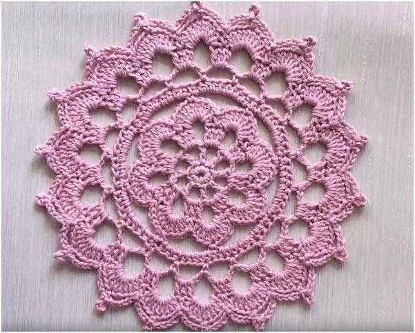 Crochet Flower Doily Tutorial Easy For Beginners Free