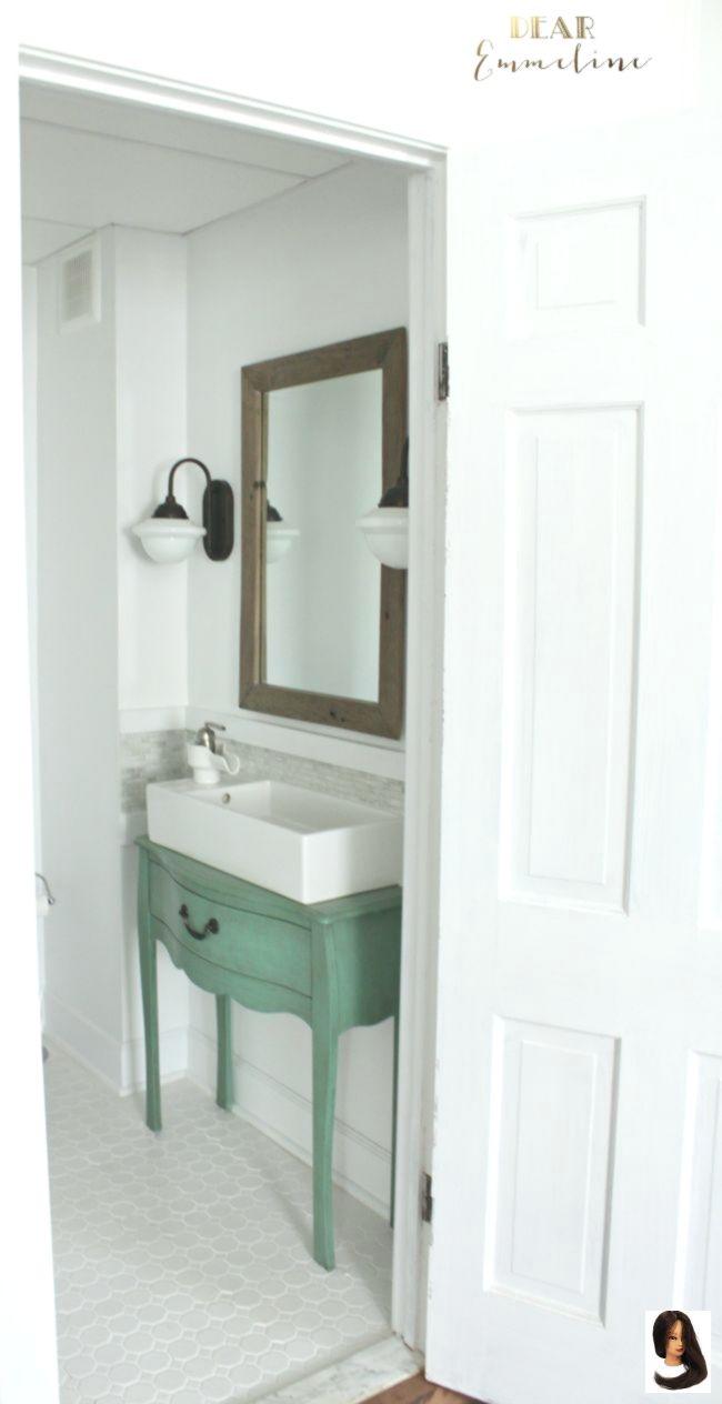 Bathroom Bathroom Remodel Ideas Home Narrow Renovation Reveal Narrow Half Bathroom Reveal 1910 Hom Small Narrow Bathroom Half Bathroom Bathroom Makeover