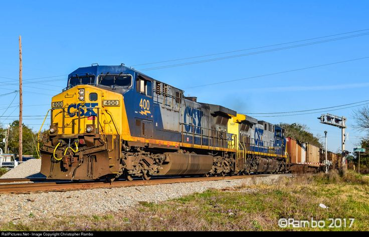 RailPictures.Net Photo: CSXT 400 CSX Transportation (CSXT) GE AC4400CW at Charleston, South Carolina by Christopher Rambo